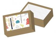 Pudełko kartonowe, Las, 15x11 cm