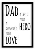 Plakat w ramce, Plakat Dad- czarna ramka, 20x30 cm