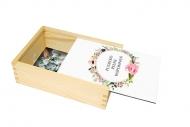 Pudełko, Kwiaty, 12x17 cm