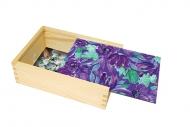 Pudełko, Purpurowe kwiaty, 12x17 cm