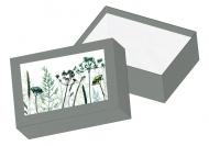 Pudełko kartonowe, Roślinne, 15x11 cm