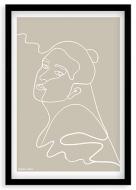 Plakat w ramce, Kolekcja Grafikk Jasikk - Spokój beż - czarna ramka, 20x30 cm