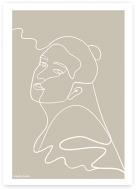 Plakat, Kolekcja Grafikk Jasikk - Spokój beż, 30x40 cm