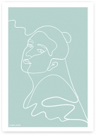 Plakat, Kolekcja Grafikk Jasikk - Spokój błękit, 30x40 cm