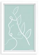 Plakat w ramce, Kolekcja Grafikk Jasikk - Równowaga błękit - biała ramka, 20x30 cm