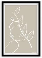 Plakat w ramce, Kolekcja Grafikk Jasikk - Równowaga beż, 20x30 cm