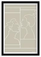 Plakat w ramce, Kolekcja Grafikk Jasikk - Namiętność beż, 20x30 cm