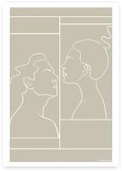 Plakat, Kolekcja Grafikk Jasikk - Namiętność beż, 30x40 cm