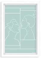 Plakat w ramce, Kolekcja Grafikk Jasikk - Namiętność błękit, 20x30 cm