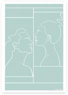 Plakat, Kolekcja Grafikk Jasikk - Namiętność błękit, 30x40 cm