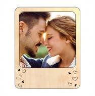 Ramka drewniana magnetyczna Dla zakochanych, 11x14 cm