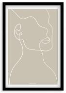 Plakat w ramce, Kolekcja Grafikk Jasikk - Duma beż, 20x30 cm