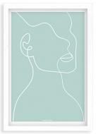 Plakat w ramce, Kolekcja Grafikk Jasikk - Duma błękit, 20x30 cm