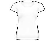 Koszulka damska, Pusty szablon
