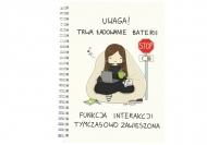 Notes Kolekcja Rynn rysuje - Ładowanie baterii - kratka, 15x21 cm