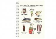 Notes Kolekcja Rynn rysuje - Rzeczy co smakują najlepiej - kratka, 15x21 cm