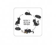 Brelok Kolekcja Rynn rysuje - Koci krąg życia, 6x6 cm