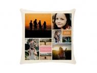 Poduszka, bawełna ekologiczna, Kolaż zdjęć, 25x25 cm