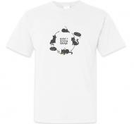 Koszulka męska, Kolekcja Rynn rysuje - Koci krąg życia