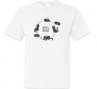Koszulka męska, Kolekcja Rynn rysuje - Koci krąg życia - męska