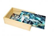 Pudełko, Marmurkowy niebieski, 12x17 cm