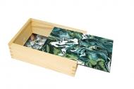 Pudełko, Marmurkowy zielony, 12x17 cm