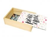 Pudełko, Peace & Love, 12x17 cm