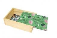 Pudełko, Tropikalne liście, 12x17 cm