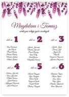 Plakat, Lista gości weselnych - wrzosy, 30x40 cm