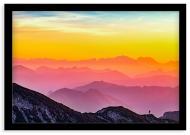 Plakat w ramce, Zachód nad górami, 40x30 cm