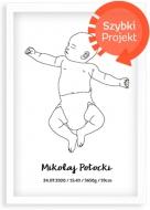 Plakat w ramce, Baby - biała ramka, 20x30 cm