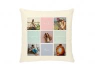 Poduszka, bawełna ekologiczna, Insta kolory, 40x40 cm