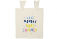 Torba eko, 38x42, Less monday more summer