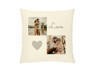 Poduszka, bawełna ekologiczna, Love wedding, 40x40 cm