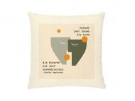 Poduszka, bawełna ekologiczna, Cytat Napierski, 40x40 cm