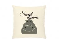 Poduszka, bawełna ekologiczna, Sweet Dreams, 40x40 cm