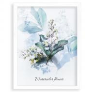 Plakat w ramce, Akwarelowe kwiaty, 30x40 cm