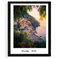 Plakat w ramce, Wybrzeże Amalfi, 30x40 cm