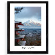 Plakat w ramce, Wulkan Fudżi, 30x40 cm