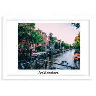 Plakat w ramce, Amsterdam, 40x30 cm