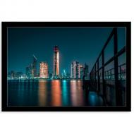 Plakat w ramce, Widok na Dubaj, 30x20 cm