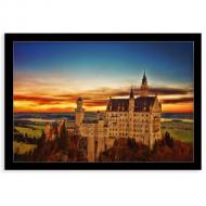 Plakat w ramce, Zamek Neuschwanstein, 30x20 cm