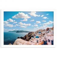 Plakat w ramce, Santorini, 30x20 cm