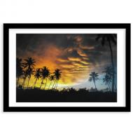 Plakat w ramce, Kolorowe niebo, 40x30 cm