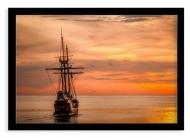 Plakat w ramce, Statek, 30x20 cm