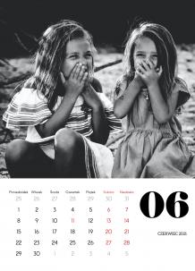 Kalendarz, Czarno biały, 30x40 cm