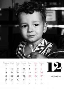 Kalendarz, Czarno biały, 20x30 cm