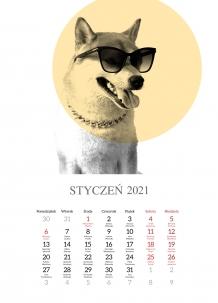 Kalendarz, Zwierzęta, 30x40 cm