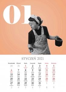 Kalendarz, Retro, 30x40 cm