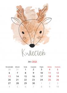 Kalendarz, Dziecięcy ze zwierzątkami, 20x30 cm